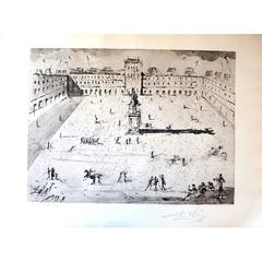 Salvador Dali - Place des Vosges - Original HandSigned Etching