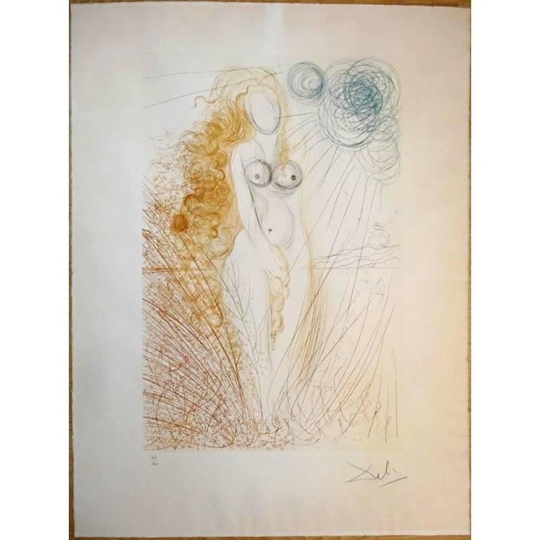 Salvador Dali -  The Birth of Venus - Original HandSigned Etching