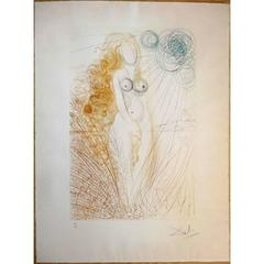 Salvador Dali -  The Birth of Venus - Original HandSigned Etching