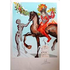 Salvador Dali -  Jerusalem-The Mystical Wedding- Original Handsigned Lithograph