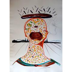 Salvador Dali -  Cyclopean Makeup - Original Handsigned Etching