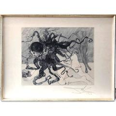 Salvador Dali -  Medusa - Original Handsigned Etching