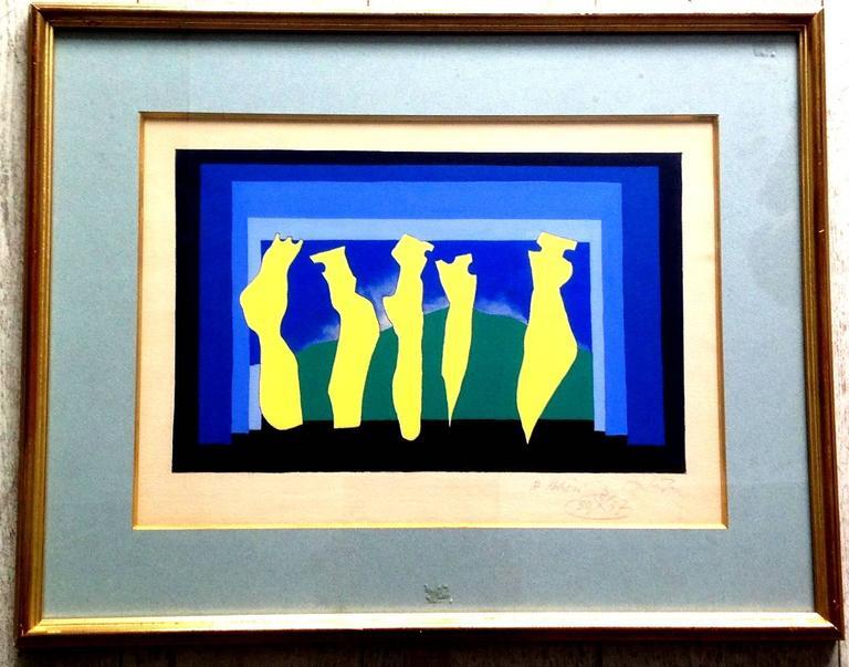 Richard Mortensen - Kandinsky - Signed Acrylic - Painting by Richard Mortensen