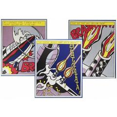 After Roy Lichtenstein - Triptych Lithographs - As I Opened Fire