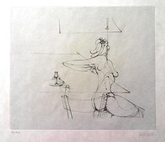 Hans Bellmer - She Rises - HandSigned Etching