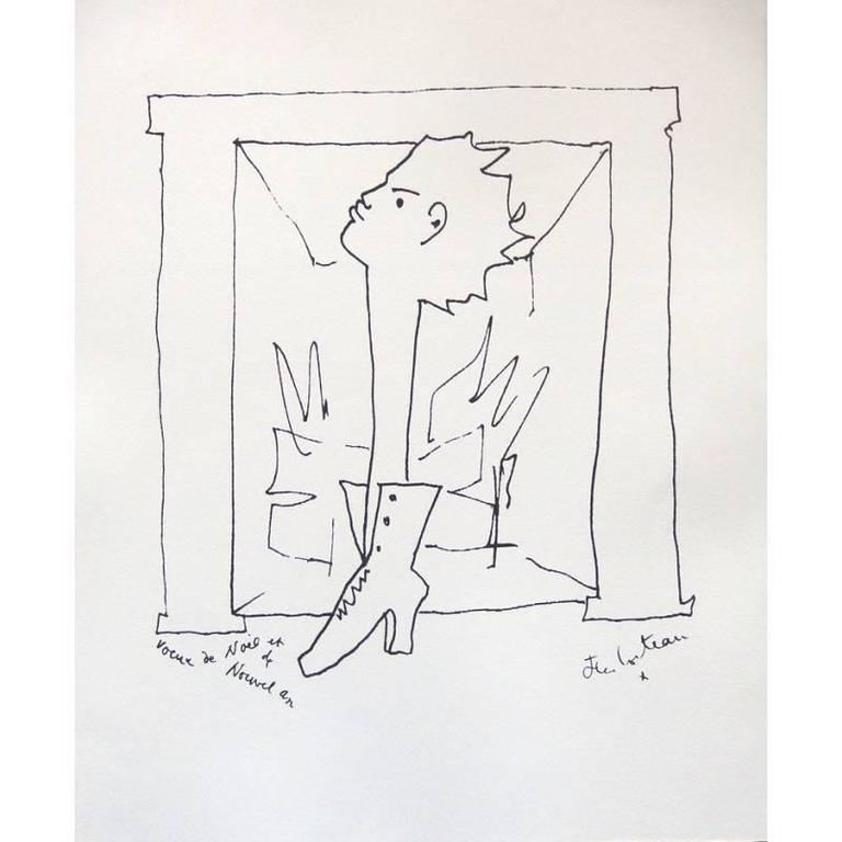 Jean Cocteau - Wishes - Original Signed Lithograph