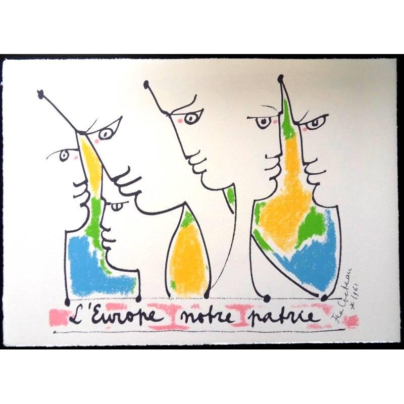Jean Cocteau - Europe's Founders - Original Lithograph