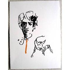 Jean Cocteau -  The Elegant Toreador - Original Lithograph