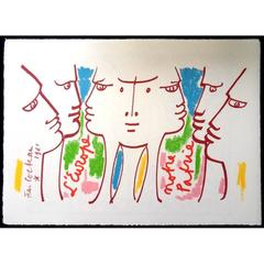 Jean Cocteau - Europe Our Homeland - Original Lithograph