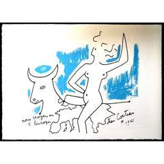 Jean Cocteau - Europe's Agriculture - Original Lithograph