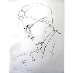 Jean Cocteau - Charlie Chaplin - Lithograph