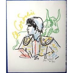 Jean Cocteau -  El Cordobes - Original Lithograph
