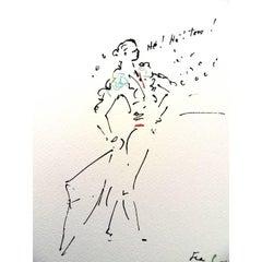 Jean Cocteau -  He ! He! Toro - Original Lithograph