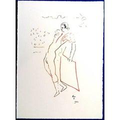 Jean Cocteau (after) -  The Toreador -  Lithograph