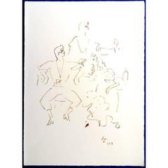 Jean Cocteau -  Spanish Party - Original Lithograph