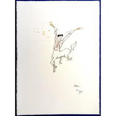 Jean Cocteau -  The Picador - Original Lithograph