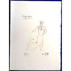 Jean Cocteau -  Torero's Son - Original Lithograph