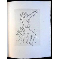 Jean Cocteau - Le Bal du Comte d'Orgel - Portfolio with 34 Original Etchings