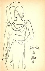Jean Cocteau - Original Signed Ink Drawing