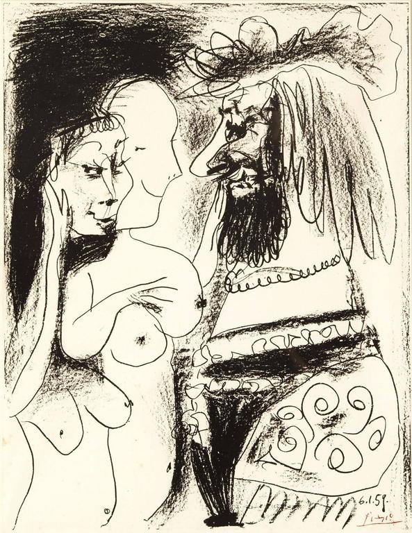 Pablo Picasso - The Old King - Original Lithograph - Print by Pablo Picasso