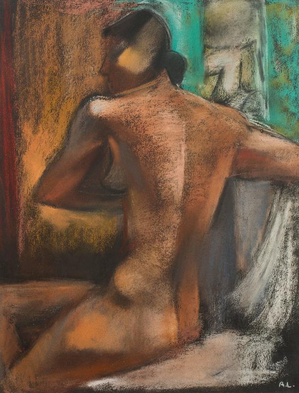 André Lhote - Original Signed Pastel - Woman