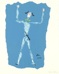 Jean Cocteau - Original Handsigned Lithograph - Under the Fire Coat