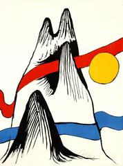 Alexander Calder - Mountain and Sun - Handsigned Lithograph