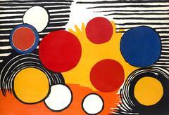 Alexander Calder - Circles - Original HandSigned Lithograph