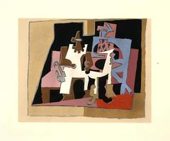 After Pablo Picasso - Interior - Gouache with Stencil
