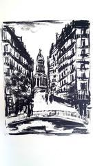 Maurice de Vlaminck - Paris' Souflot Street - Original Etching