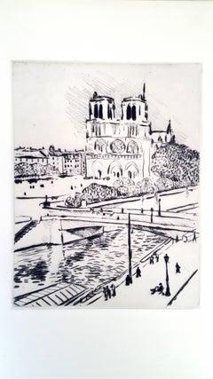 Albert Marquet - Notre Dame - Original Etching