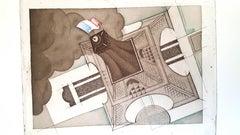 Charles Martin - The Eiffel Tower - Original Lithograph