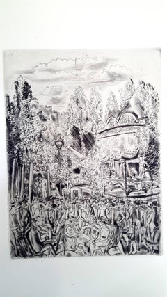 Hermine David - Montmartre's Party - Original Engraving