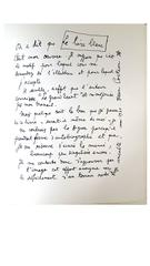 Jean Cocteau - Explanations - Original Lithograph