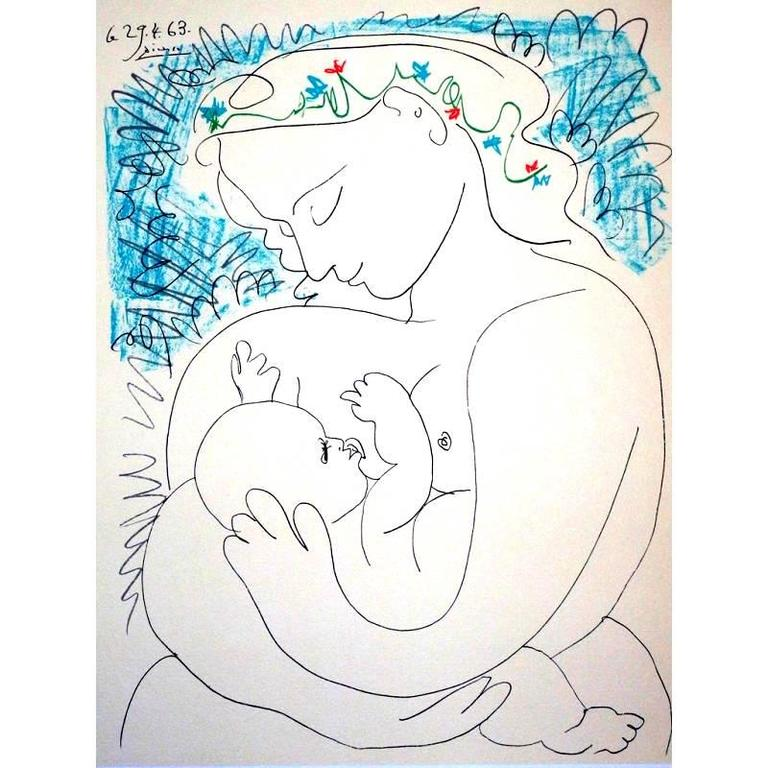 after) Pablo Picasso - After Pablo Picasso - Maternity - Lithograph ...