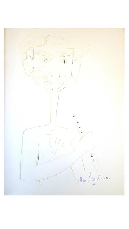 Jean Cocteau - Marine Mountains - Original Lithograph
