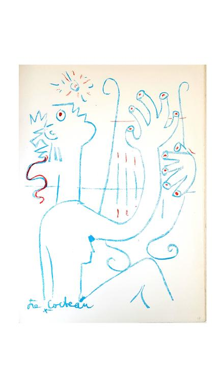 Jean Cocteau - The Musician - Original Lithograph