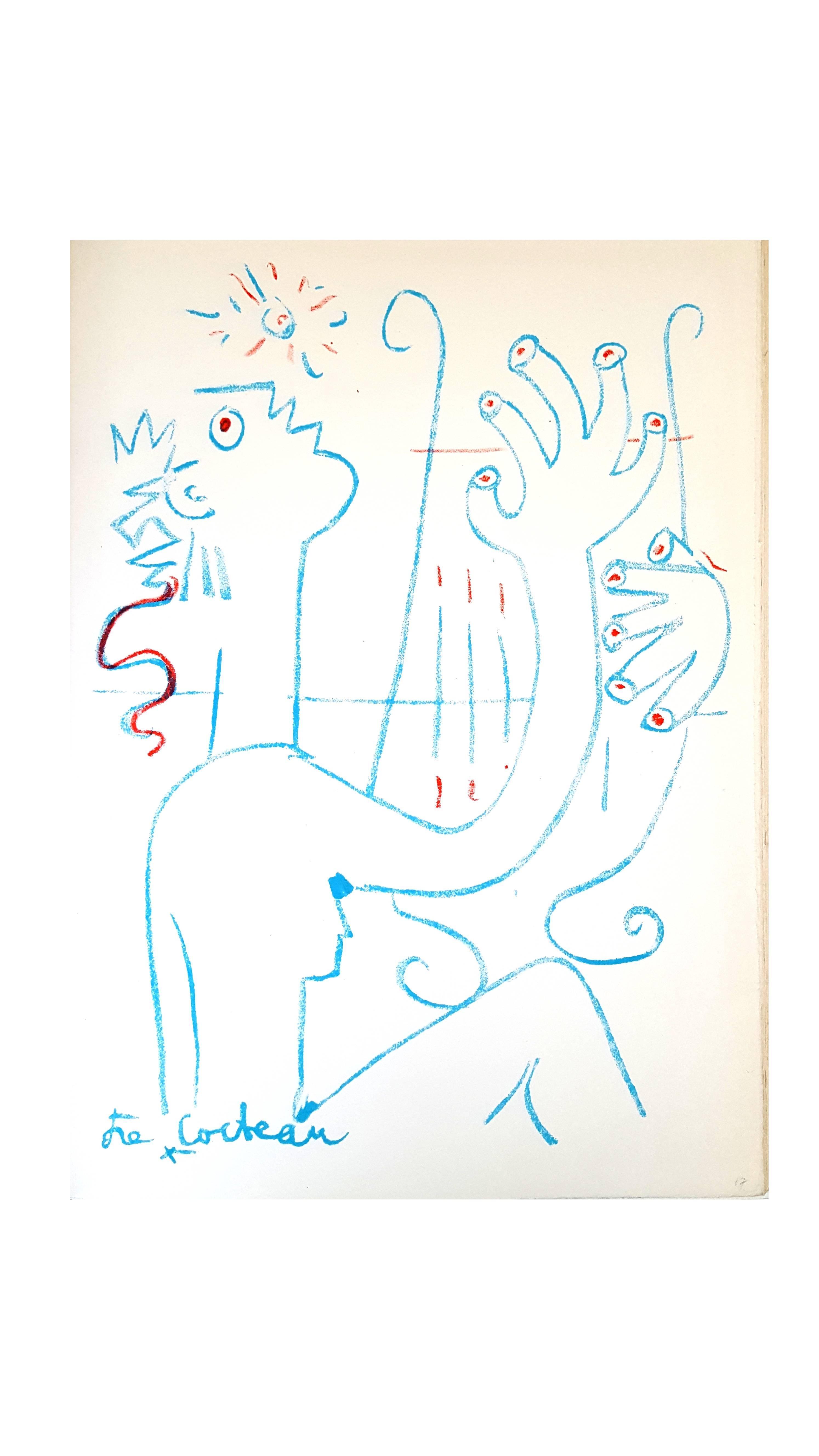 Jean Cocteau - The Musician - Original Lithograph