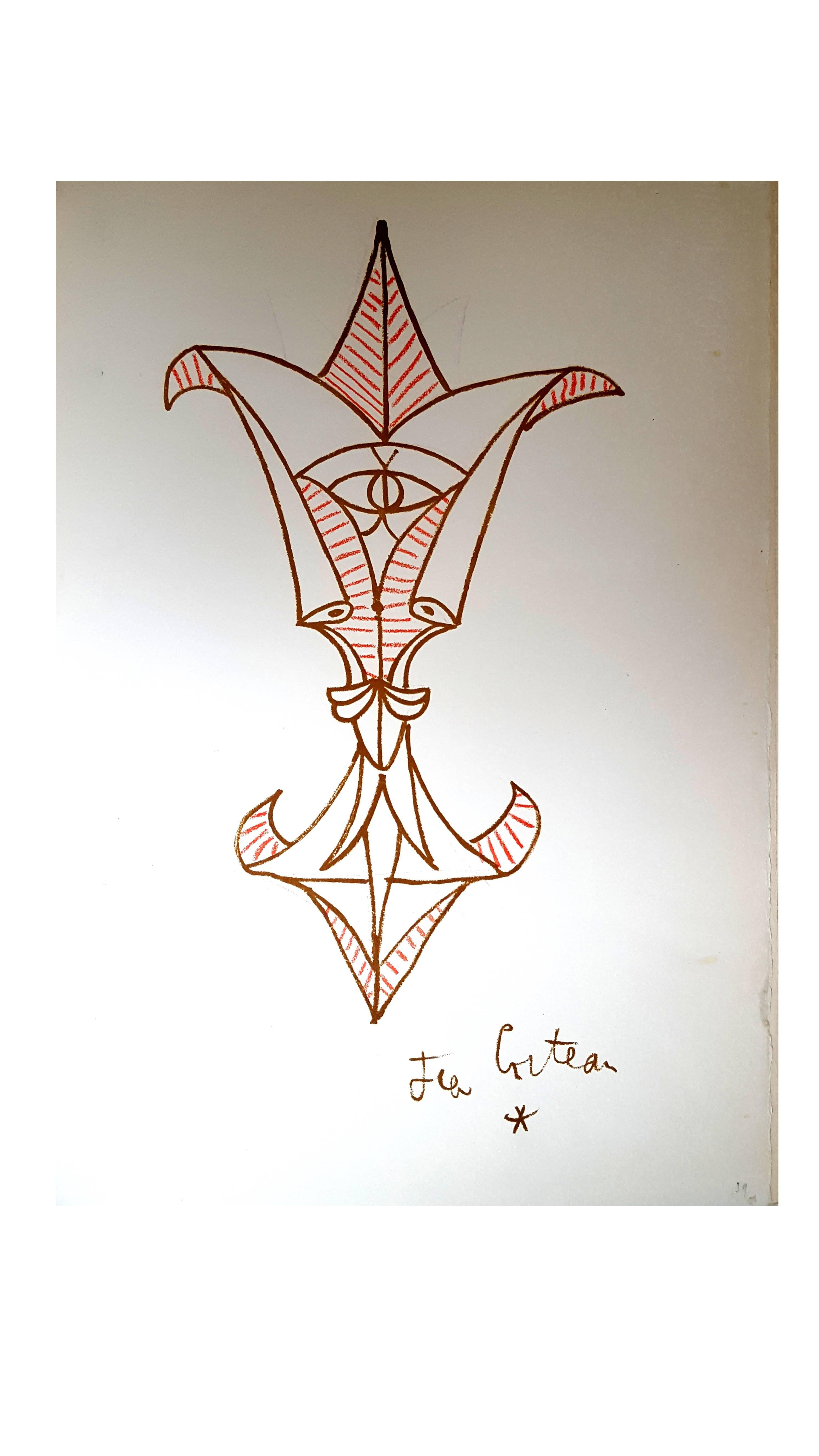 Jean Cocteau - Marine Mountains - Original Lithograph