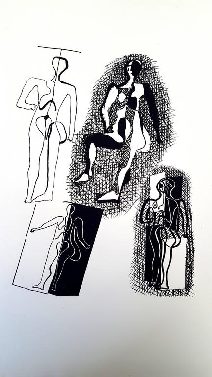 Pablo Picasso (after) Helene Chez Archimede - Wood Engraving
