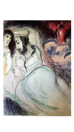 Marc Chagall - The Bible - Sarah And Abimelech - Original Lithograph