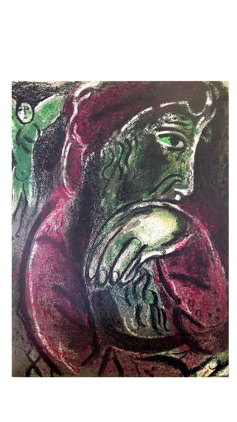 Marc Chagall - The Bible - Job - Original Lithograph - Print by Marc Chagall
