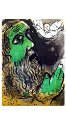 Marc Chagall - The Bible - Job Praying - Original Lithograph