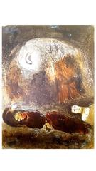 Marc Chagall - The Bible - Ruth at the feet of Boaz - Original Lithograph