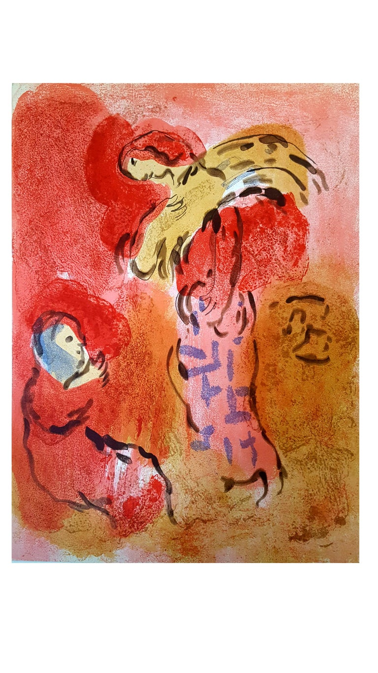 Marc Chagall - The Bible - Ruth Gleaning - Original Lithograph - Print by Marc Chagall