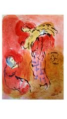 Marc Chagall - The Bible - Ruth Gleaning - Original Lithograph