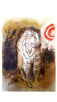 Marc Chagall - The Bible - Naomi and her daughters-in-law - Original Lithograph