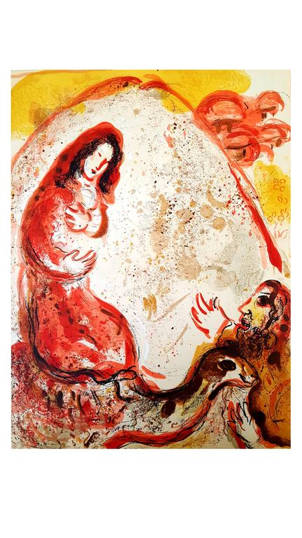 Marc Chagall - The Bible - Rachel - Original Lithograph