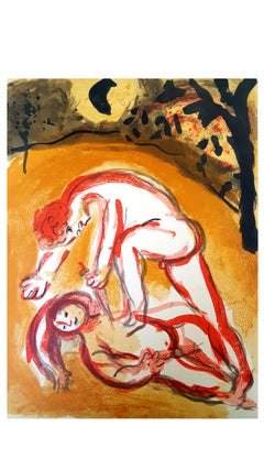 Marc Chagall - The Bible - Cain and Abel - Original Lithograph