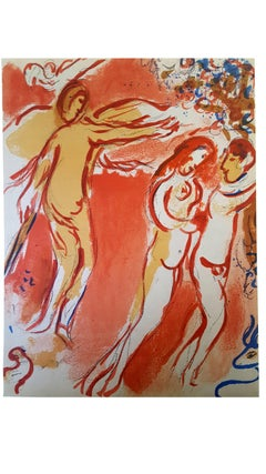 Marc Chagall - The Bible - Paradise - Original Lithograph